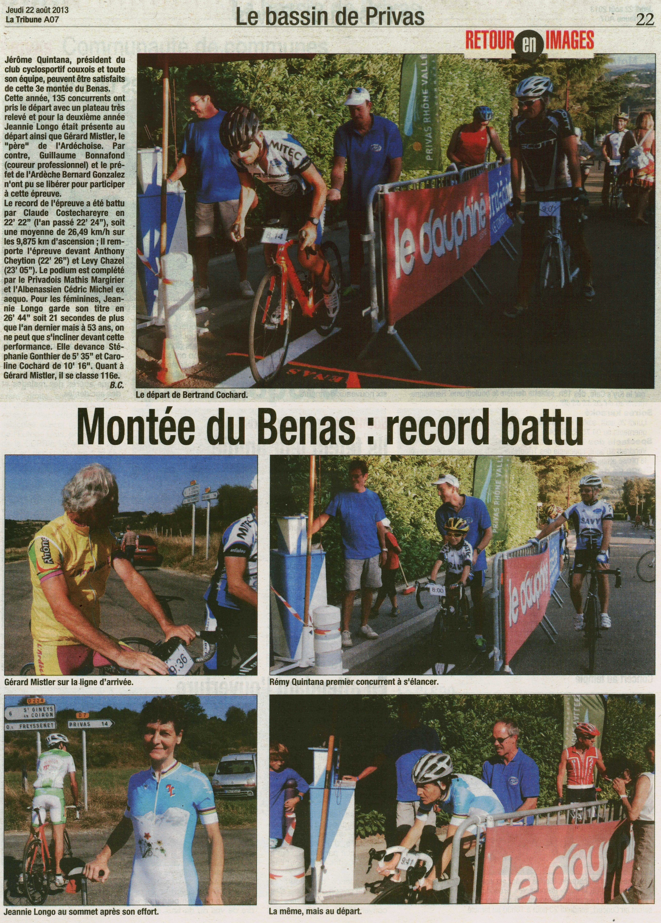 Article La Tribune du 22 août 2013
